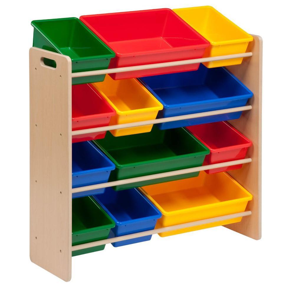 childrens kids bedroom storage shelf rack unit plastic boxes tubs bins toys. Black Bedroom Furniture Sets. Home Design Ideas