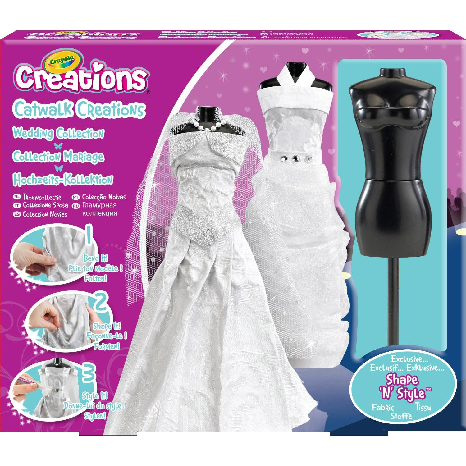 Crayola Catwalk Creations Wedding Collection Fashion Designer Design Set Ebay