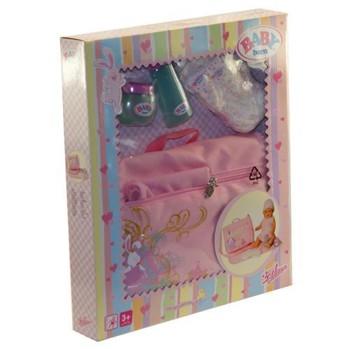 Zapf Baby Born Doll Changing Backpack Bag Set Amp Nappies Ebay