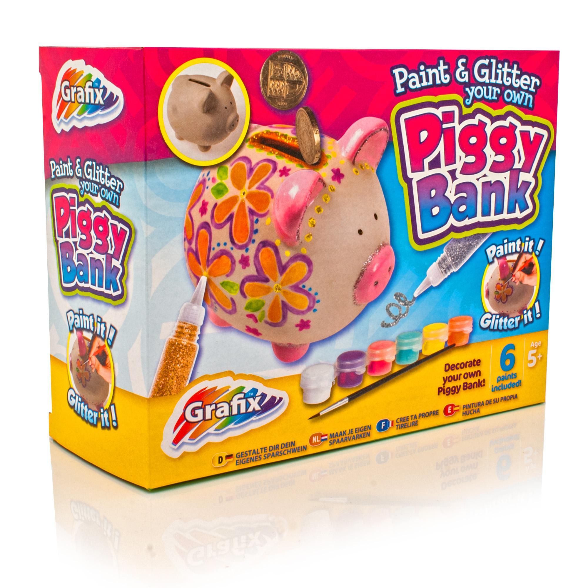 Make your own piggy bank grafix kids arts crafts set for Create your own piggy bank