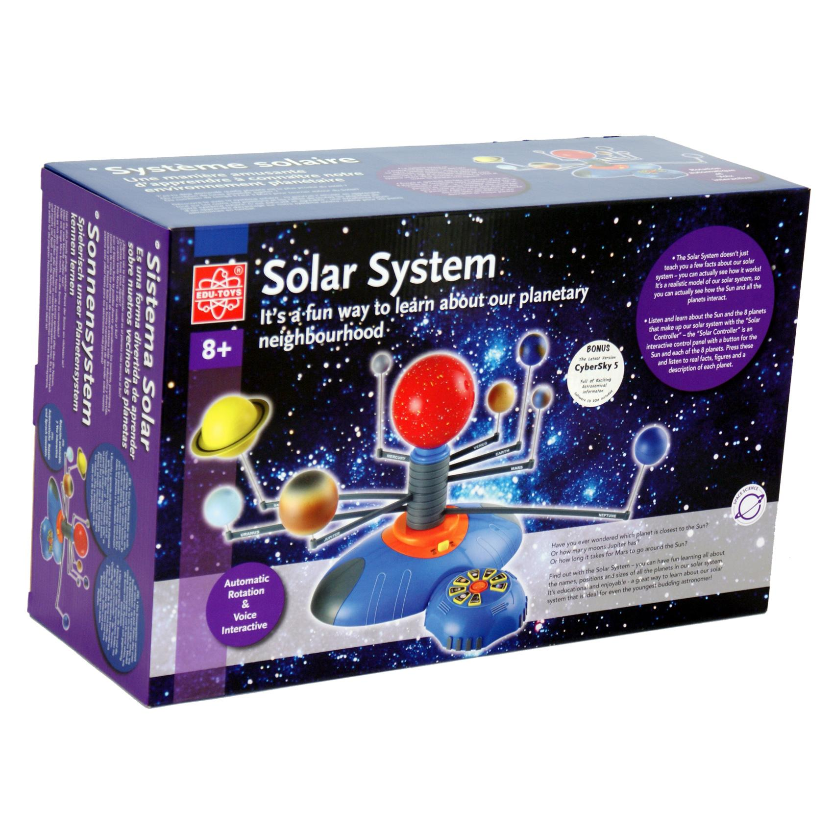 Solar System And Planet Toys : Interactive rotating solar system planet model educational