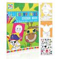 Funny Faces Colour & Sticker Book
