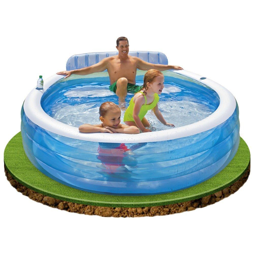 Intex inflatable swim centre family lounge large paddling swimming seat pool Intex inflatable swimming pool