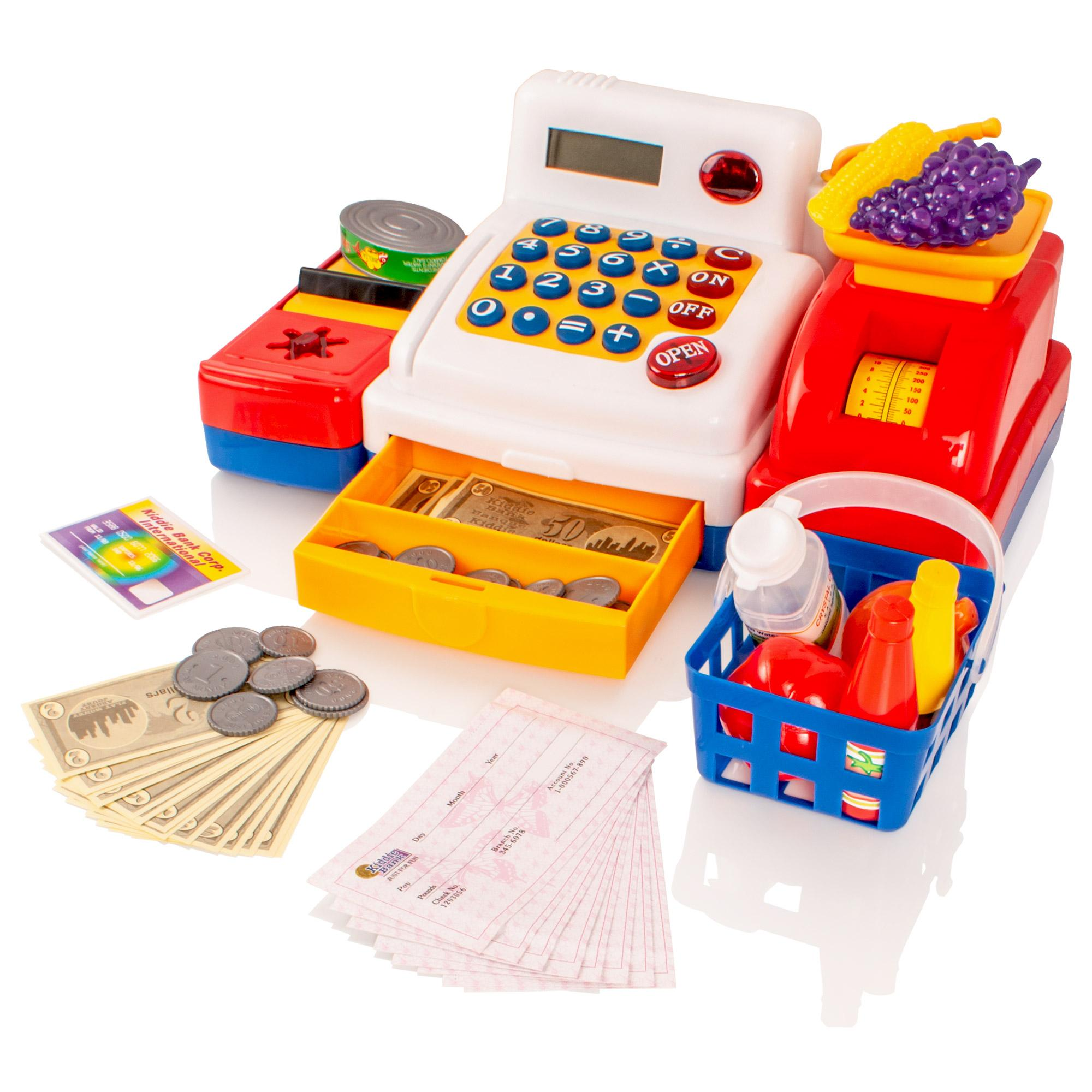 Supermarket Cash Register Childrens Kids Toy Till Play Money