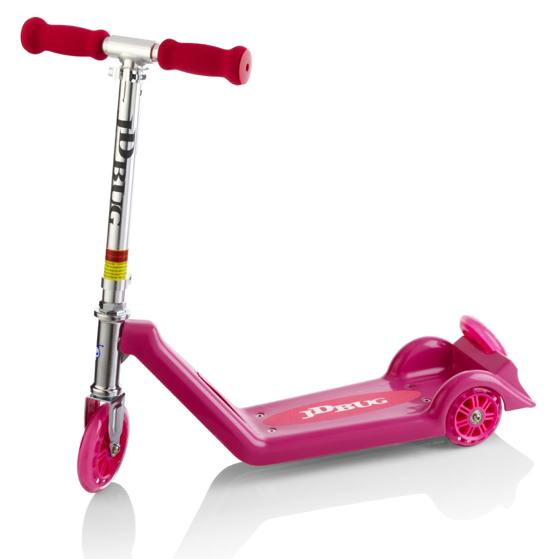 jd bug childrens kiddie kick pink 3 wheel scooter 1st first micro ebay. Black Bedroom Furniture Sets. Home Design Ideas