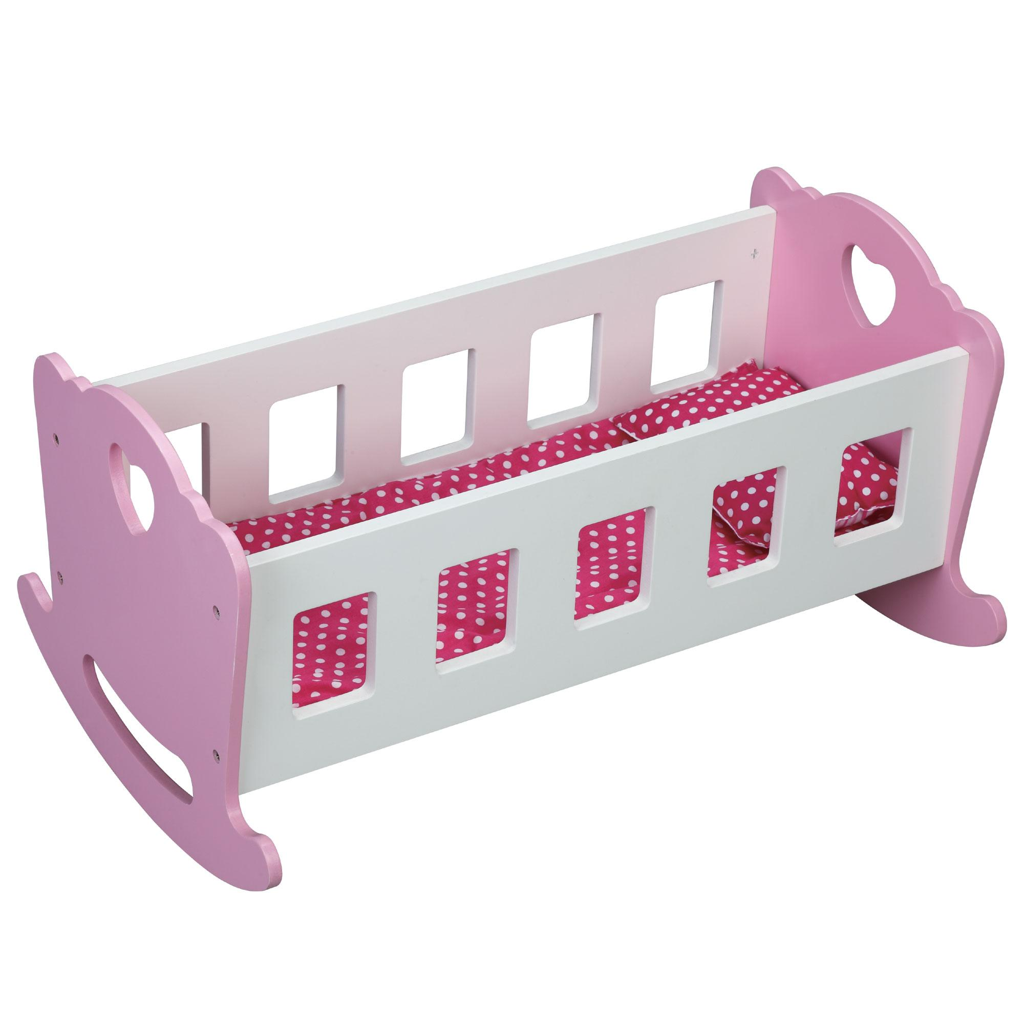 Rocking crib for sale doncaster - Molly Dolly Wooden Dolls Rocking Cradle Crib Wood Rocker Cot Bed Bedding